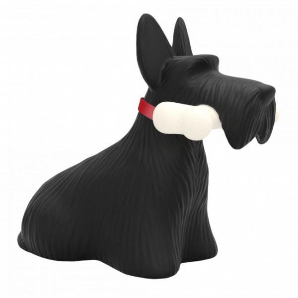 Qeeboo - Scottie - Black - Qeeboo Free Standing Lamp by Stefano Giovannoni - Lighting - Home