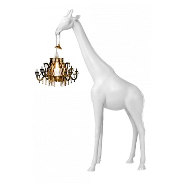 Qeeboo - Giraffe in Love XS - Bianca - Lampada da Terra Qeeboo by Marcantonio - Illuminazione - Casa
