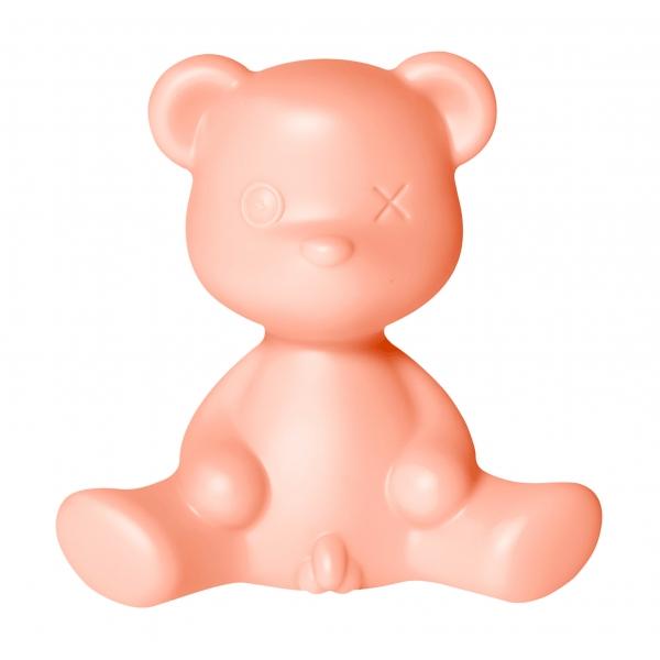 Qeeboo - Teddy Boy Lamp - Rosa Brillante - Lampada da Tavolo Qeeboo by Stefano Giovannoni - Illuminazione - Casa