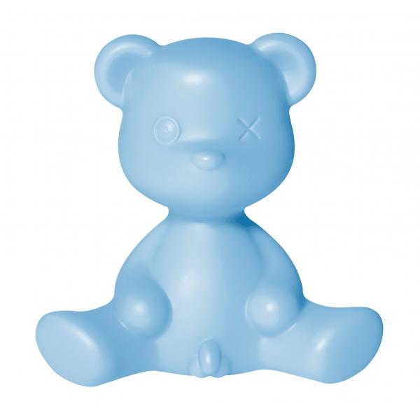 Qeeboo - Teddy Boy Lamp - Azzurro - Lampada da Tavolo Qeeboo by Stefano Giovannoni - Illuminazione - Casa