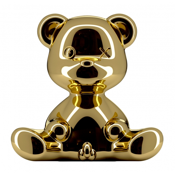 Qeeboo - Teddy Boy Lamp Metal Finish - Gold - Qeeboo Table Standing Lamp by Stefano Giovannoni - Lighting - Home