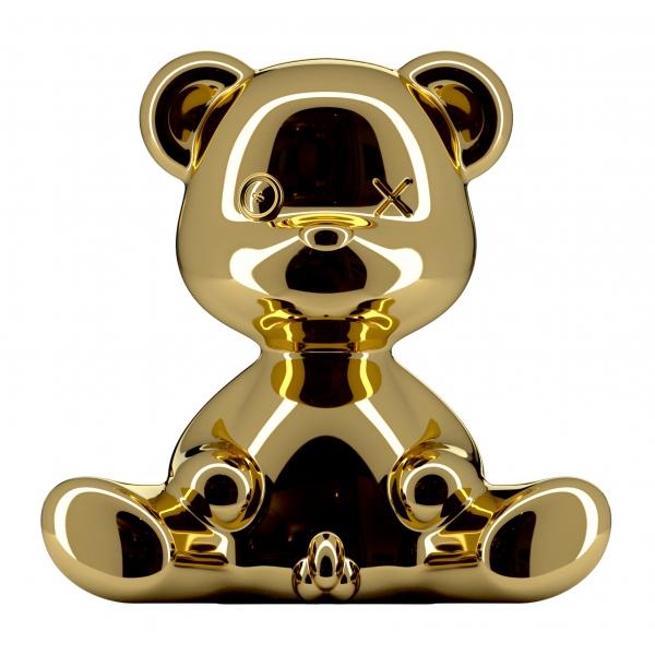 Qeeboo - Teddy Boy Lamp Metal Finish - Oro - Lampada da Tavolo Qeeboo by Stefano Giovannoni - Illuminazione - Casa
