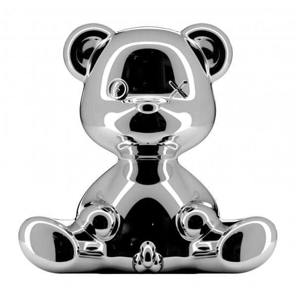 Qeeboo - Teddy Boy Lamp Metal Finish - Argento - Lampada da Tavolo Qeeboo by Stefano Giovannoni - Illuminazione - Casa