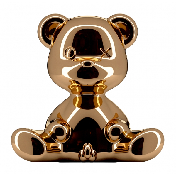 Qeeboo - Teddy Boy Lamp Metal Finish - Rame - Lampada da Tavolo Qeeboo by Stefano Giovannoni - Illuminazione - Casa