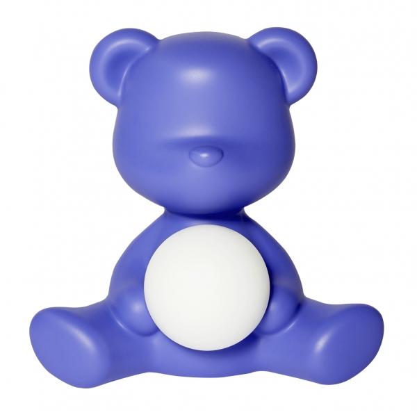 Qeeboo - Teddy Girl Rechargeable Lamp - Viola - Lampada da Tavolo Qeeboo by Stefano Giovannoni - Illuminazione - Casa