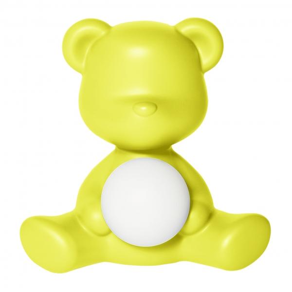 Qeeboo - Teddy Girl Rechargeable Lamp - Lime - Lampada da Tavolo Qeeboo by Stefano Giovannoni - Illuminazione - Casa