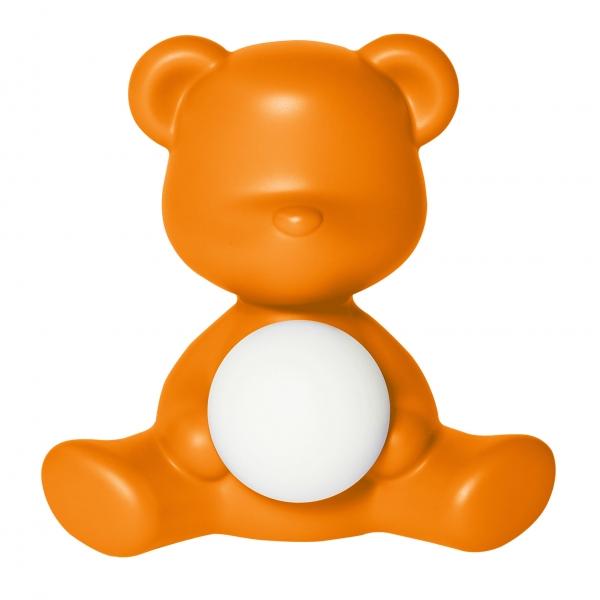 Qeeboo - Teddy Girl Rechargeable Lamp - Arancione - Lampada da Tavolo Qeeboo by Stefano Giovannoni - Illuminazione - Casa