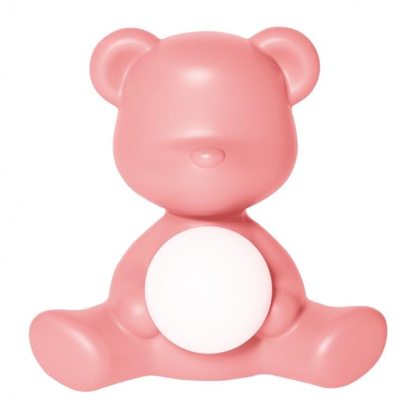 Qeeboo - Teddy Girl Rechargeable Lamp - Rosa Brillante - Lampada da Tavolo Qeeboo by Stefano Giovannoni - Illuminazione - Casa