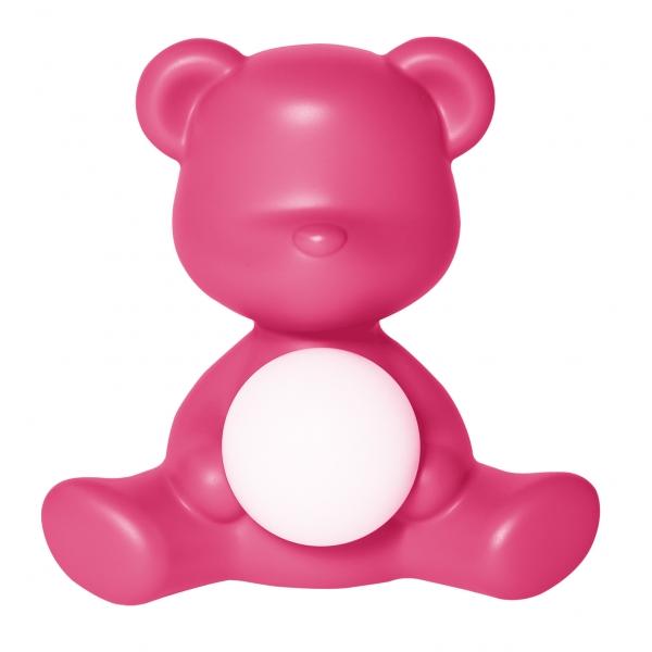 Qeeboo - Teddy Girl Rechargeable Lamp - Fuxia - Lampada da Tavolo Qeeboo by Stefano Giovannoni - Illuminazione - Casa