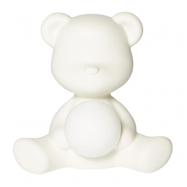 Qeeboo - Teddy Girl Rechargeable Lamp - Bianco - Lampada da Tavolo Qeeboo by Stefano Giovannoni - Illuminazione - Casa
