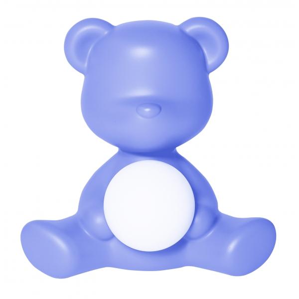 Qeeboo - Teddy Girl Rechargeable Lamp - Azzurro - Lampada da Tavolo Qeeboo by Stefano Giovannoni - Illuminazione - Casa