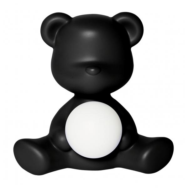 Qeeboo - Teddy Girl Rechargeable Lamp - Nero - Lampada da Tavolo Qeeboo by Stefano Giovannoni - Illuminazione - Casa