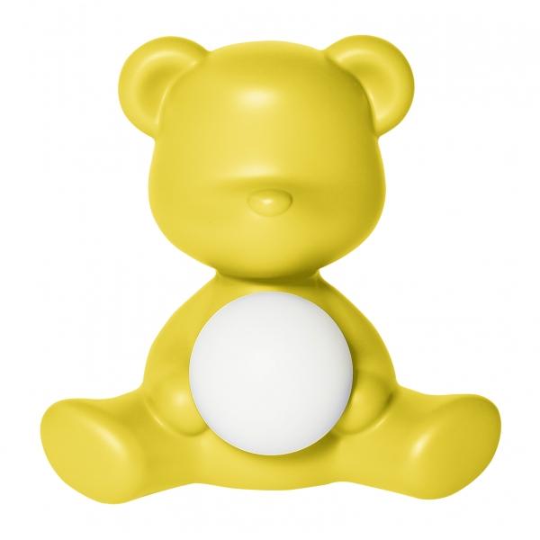 Qeeboo - Teddy Girl Rechargeable Lamp - Giallo - Lampada da Tavolo Qeeboo by Stefano Giovannoni - Illuminazione - Casa