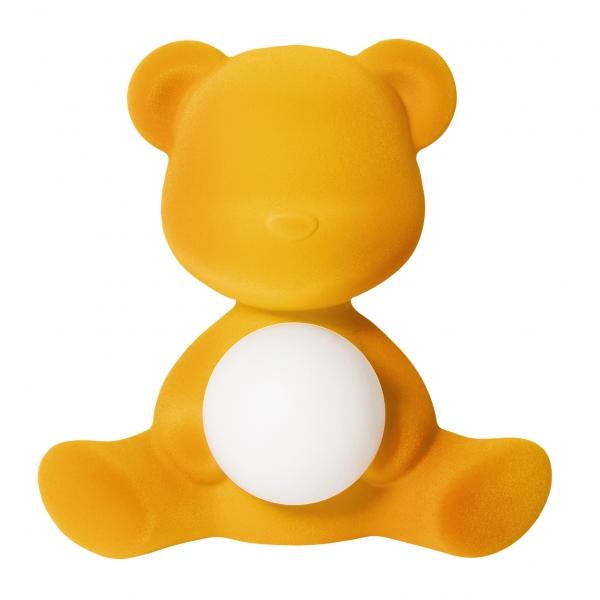 Qeeboo - Teddy Girl Rechargeable Lamp Velvet Finish - Oro Scuro - Lampada by Stefano Giovannoni - Illuminazione - Casa