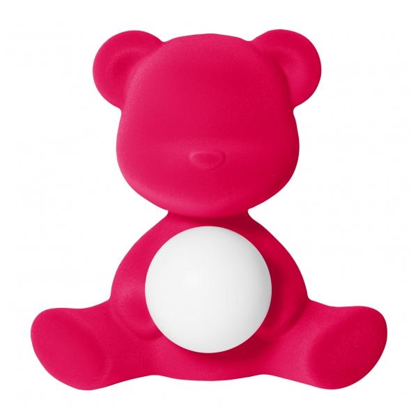 Qeeboo - Teddy Girl Rechargeable Lamp Velvet Finish - Fuxia - Lampada by Stefano Giovannoni - Illuminazione - Casa