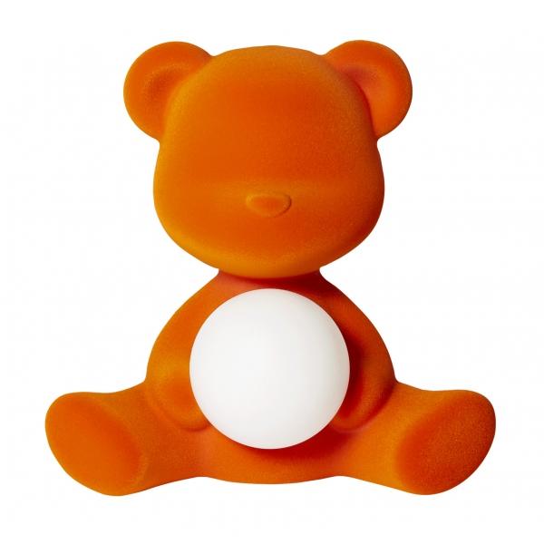 Qeeboo - Teddy Girl Rechargeable Lamp Velvet Finish - Arancione - Lampada by Stefano Giovannoni - Illuminazione - Casa