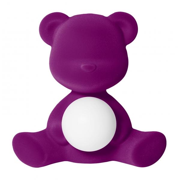 Qeeboo - Teddy Girl Rechargeable Lamp Velvet Finish - Viola - Lampada by Stefano Giovannoni - Illuminazione - Casa