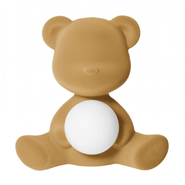 Qeeboo - Teddy Girl Rechargeable Lamp Velvet Finish - Arena - Lampada by Stefano Giovannoni - Illuminazione - Casa