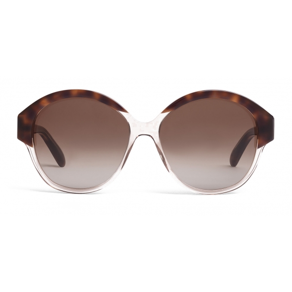 Céline - Occhiali da Sole Maillon Triomphe 01 in Acetato - Avana Grigio Trasparente - Occhiali da Sole - Céline Eyewear