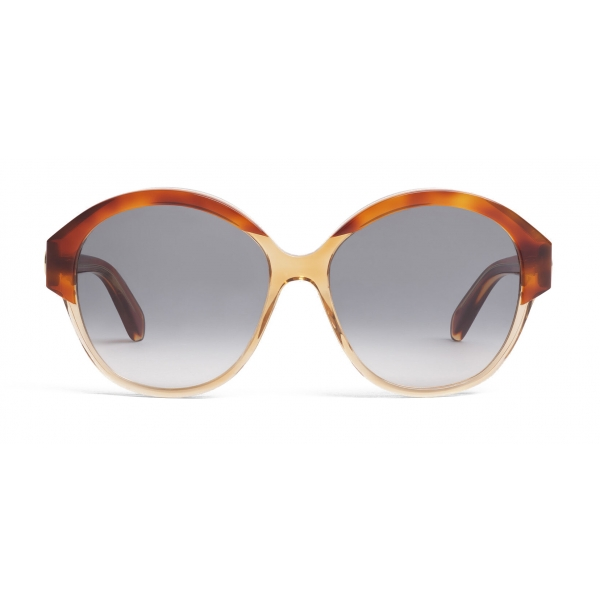 Céline - Maillon Triomphe 01 Sunglasses in Acetate - Havana Transparent Yellow - Sunglasses - Céline Eyewear