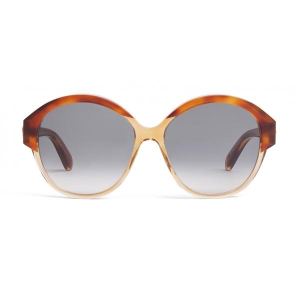 Céline - Occhiali da Sole Maillon Triomphe 01 in Acetato - Avana Giallo Trasparente - Occhiali da Sole - Céline Eyewear