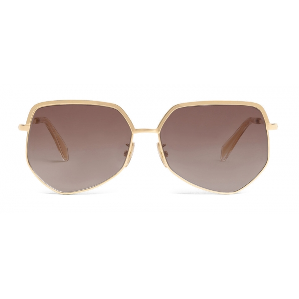 Céline - Metal Frame 13 Sunglasses in Metal - Gold Gradient Brown - Sunglasses - Céline Eyewear