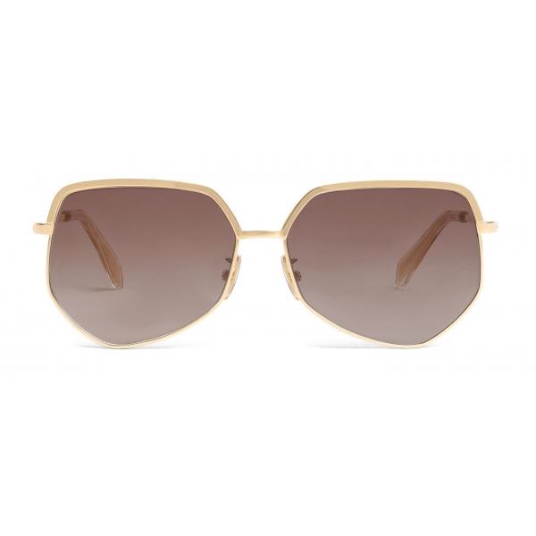 Céline - Occhiali da Sole Metal Frame 13 in Metallo - Marrone Sfumato Oro - Occhiali da Sole - Céline Eyewear