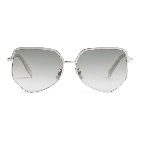 Céline - Metal Frame 13 Sunglasses in Metal - Silver Gradient Blue - Sunglasses - Céline Eyewear
