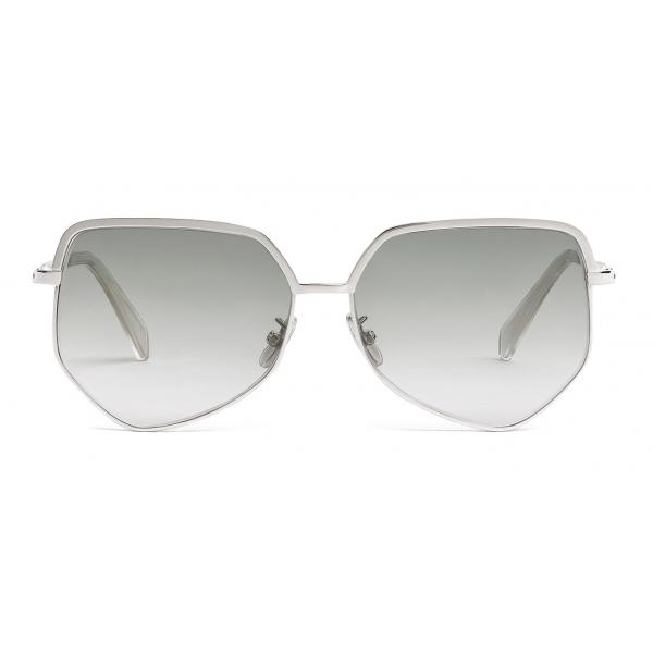 Céline - Occhiali da Sole Metal Frame 13 in Metallo - Blu Sfumato Argento - Occhiali da Sole - Céline Eyewear