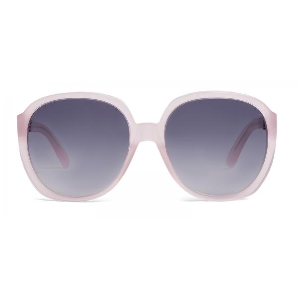 Céline - Occhiali da Sole Rotondi in Acetato - Rosa Chiaro Opalscente - Occhiali da Sole - Céline Eyewear