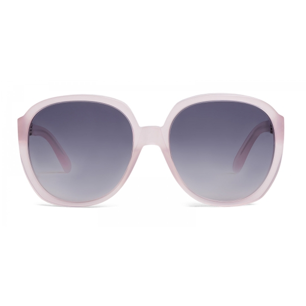 Céline - Round Sunglasses in Acetate - Milky Light Pink - Sunglasses - Céline Eyewear