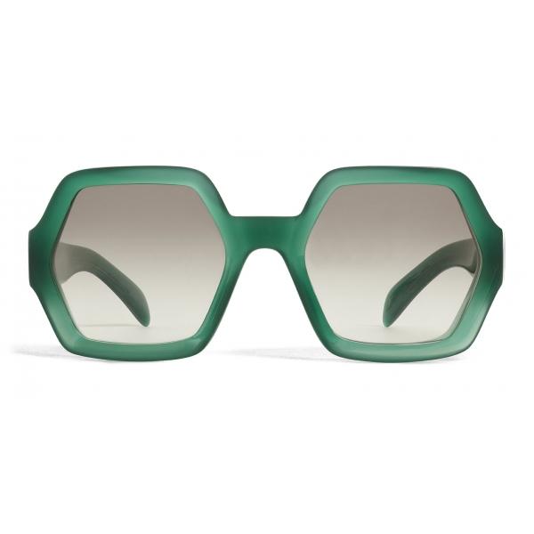 Céline - Occhiali da Sole Oversize in Acetato - Verde Opalescente - Occhiali da Sole - Céline Eyewear
