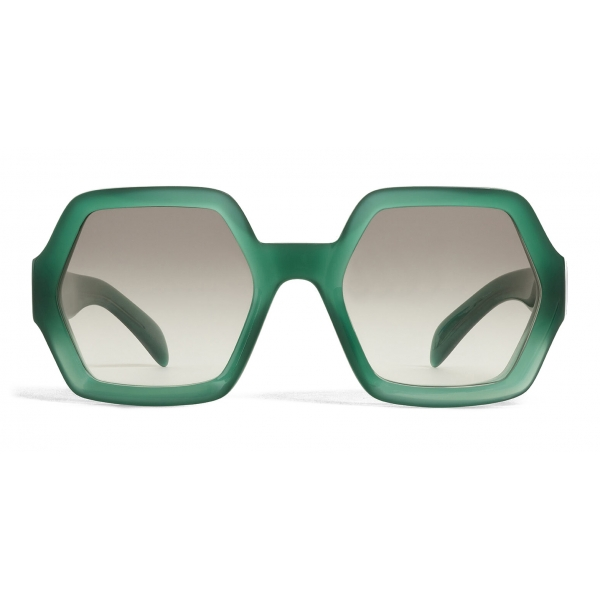 Céline - Oversized Sunglasses in Acetate - Milky Green - Sunglasses - Céline Eyewear