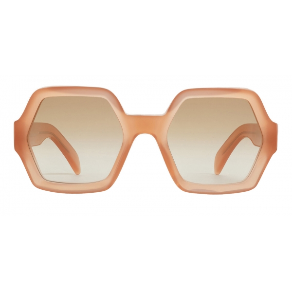 Céline - Oversized Sunglasses in Acetate - Milky Antique Pink - Sunglasses - Céline Eyewear