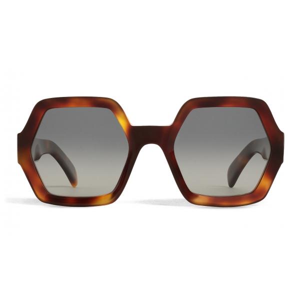 Céline - Occhiali da Sole Oversize in Acetato con Lenti Polarizzate - Avana Biondo - Occhiali da Sole - Céline Eyewear