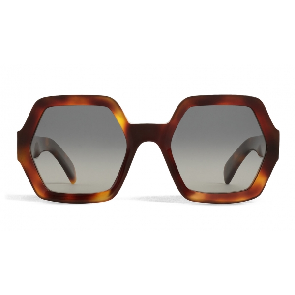 Céline - Oversized Sunglasses in Acetate with Polarized Lenses - Blonde Havana - Sunglasses - Céline Eyewear