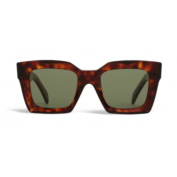 Céline - Square Sunglasses in Acetate - Red Havana - Sunglasses - Céline Eyewear