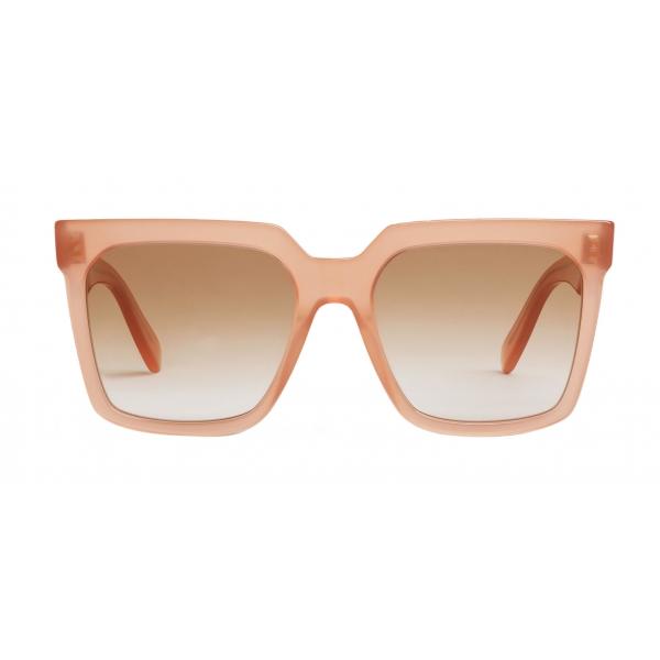 Céline - Occhiali da Sole Squadrati in Acetato - Rosa Antico Opalescente - Occhiali da Sole - Céline Eyewea