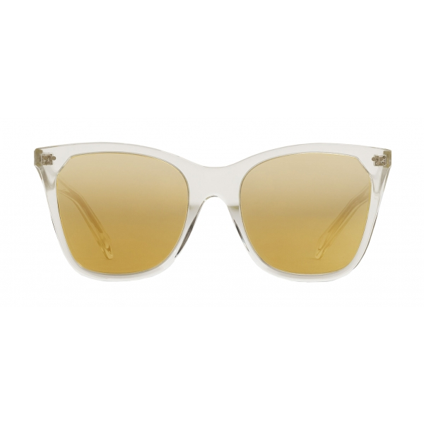 Céline - Cat Eye Sunglasses in Acetate with Mirror Lenses - Crystal - Sunglasses - Céline Eyewear