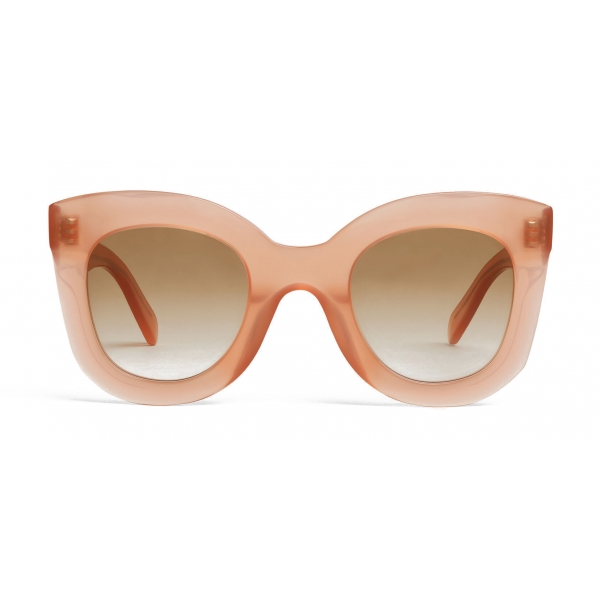 Céline - Butterfly Sunglasses in Acetate - Milky Antique Pink - Sunglasses - Céline Eyewear