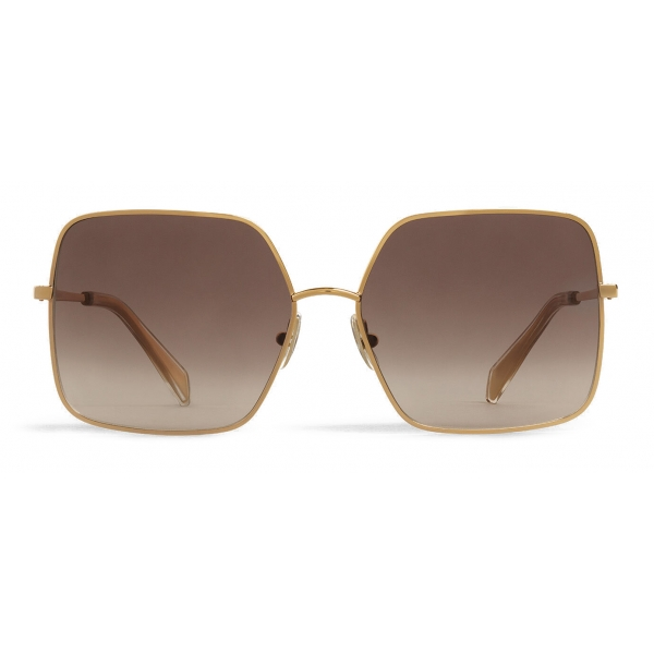 Céline - Metal Frame 09 Sunglasses in Metal - Gold Gradient Grey - Sunglasses - Céline Eyewear