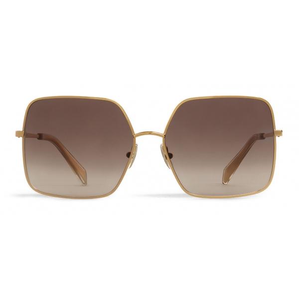 Céline - Occhiali da Sole Metal Frame 09 in Metallo - Oro Grigio Sfumato - Occhiali da Sole - Céline Eyewear