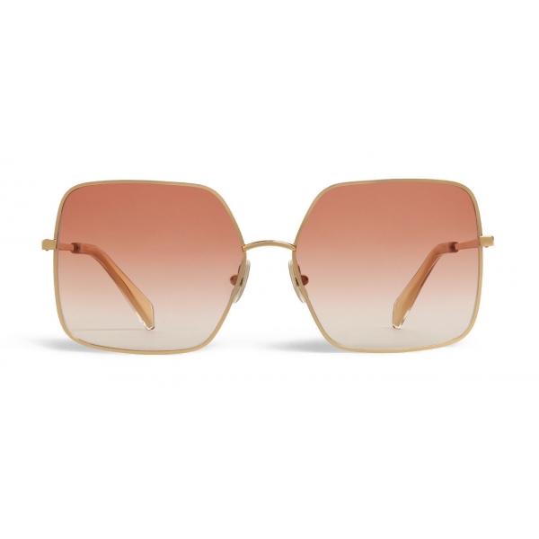 Céline - Occhiali da Sole Metal Frame 09 in Metallo - Oro Rosa Sfumato - Occhiali da Sole - Céline Eyewear
