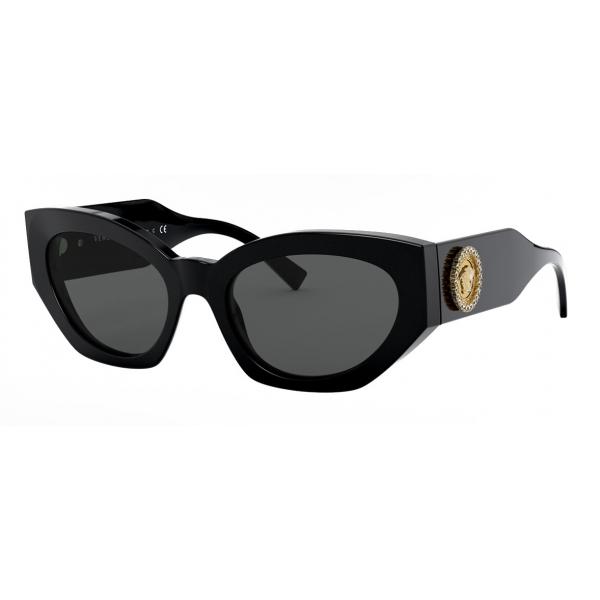 Versace - Occhiale da Sole Medusa Crystal - Nero - Occhiali da Sole - Versace Eyewear