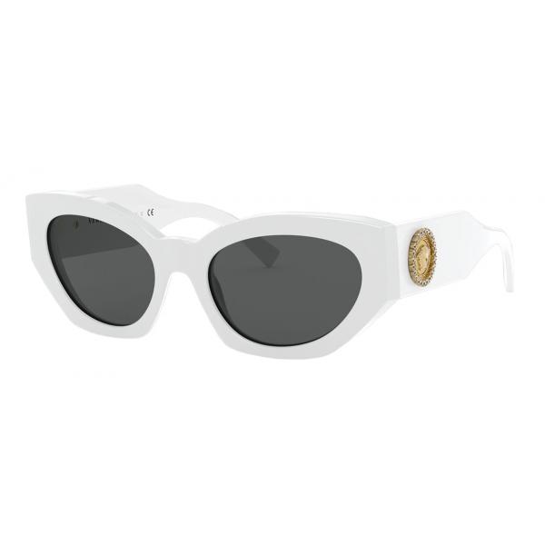 Versace - Occhiale da Sole Medusa Crystal - Bianco - Occhiali da Sole - Versace Eyewear