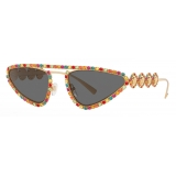 Versace - Sunglasses Signature Medusa Crystal - Gold - Sunglasses - Versace Eyewear
