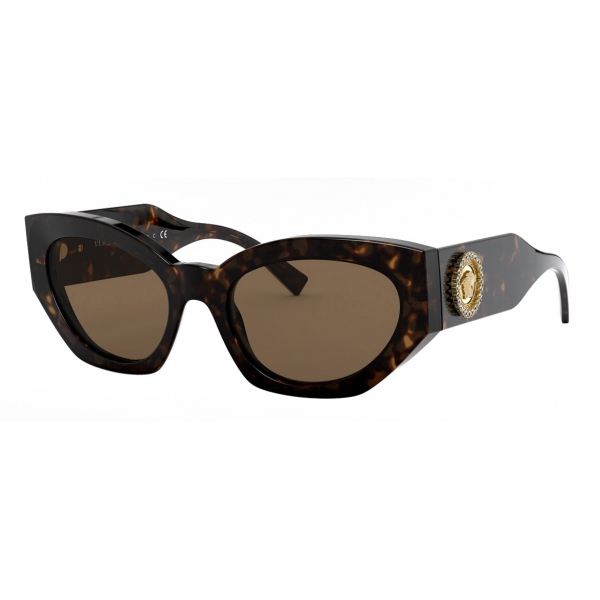 Versace - Occhiale da Sole Medusa Crystal - Marrone - Occhiali da Sole - Versace Eyewear