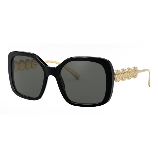 Versace - Occhiale da Sole Signature Medusa Square - Nero Oro - Occhiali da Sole - Versace Eyewear