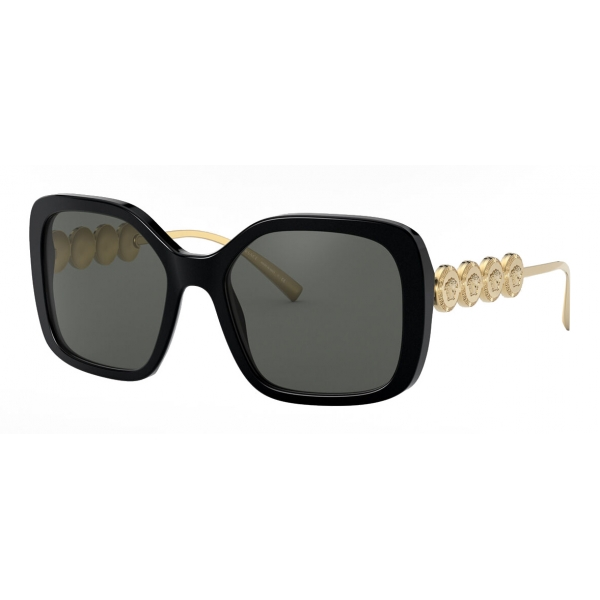 Versace - Sunglasses Signature Medusa Square - Black Gold - Sunglasses - Versace Eyewear