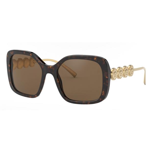 Versace - Occhiale da Sole Signature Medusa Squre - Marrone Oro - Occhiali da Sole - Versace Eyewear
